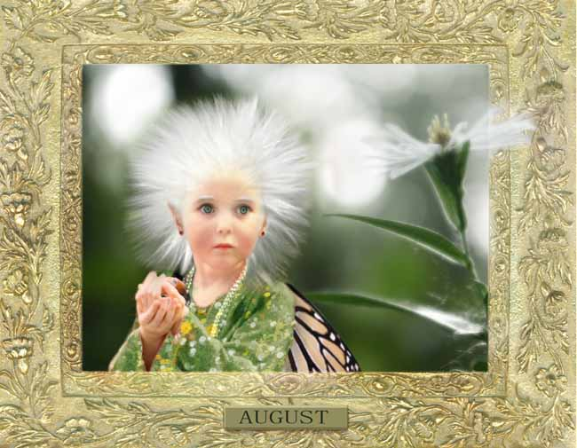 A Peek At Faeries CALENDAR_August