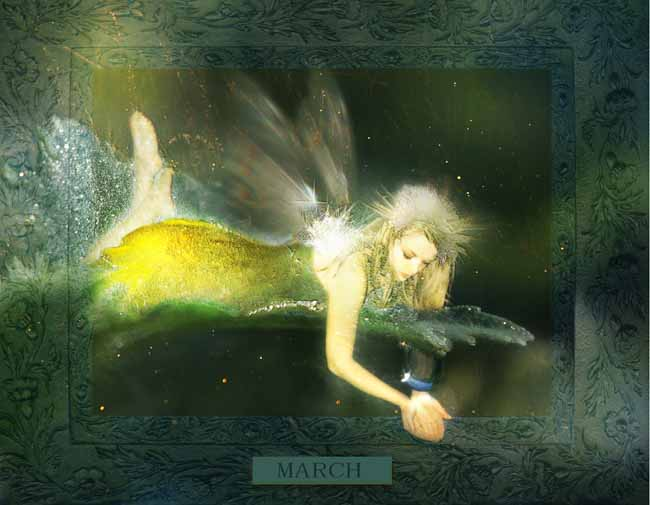 A Peek At Faeries CALENDAR_March
